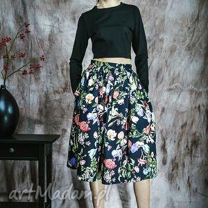 spódnice kwiecista spódnica z kieszeniami, spódnica, kwiaty, rustic, bawełna