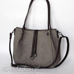torebka na ramię szara - torba, torebka