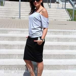 asymetryczna bluzka dresowa oversize, bluzka, asymetryczna, bluzki