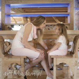 spódnice komplet spódniczek rosa, ołówkowa, spódniczki, komplet, pudrowyróż, dzianina