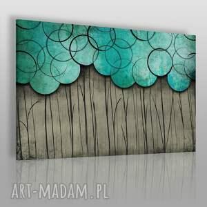 obraz na płótnie - koła szary turkusowy 120x80 cm 48801 , obraz, dekoracja