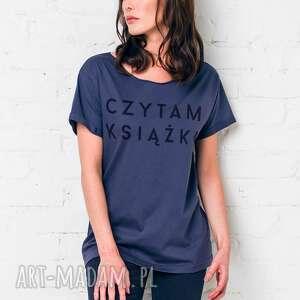 czytam książki oversize t-shirt, oversize, tshirt, grafit, casual, bawełna, moda