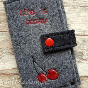 filcowe etui na telefon - life is tasty, etui, telefon, smartfon, prezent, haft