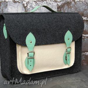Torba na laptopa filc skóra 15 , torba, laptop, filc, skórzana, 15, handmade