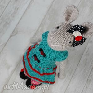 szyszka dziergajka szydełkowy króliczek chloe, króliczek, przytulanka, maskotka