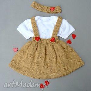 Prezent Komplet Agatka, spódnica, opaska, komplet, dziewczynka, prezent, niemowlę