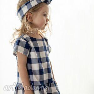 sukienka w kratę, sukienka, dresowa, dziecięca, dziewczęca, kraciaska, unikalny