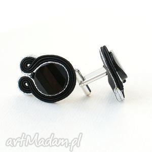hand-made męska czarno-srebrne