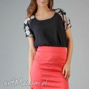bluzka roma 2, kwiaty, modna, wygodna, wstawka, bufka, elegancka ubrania