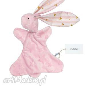 oryginalny prezent, papataj przytulanka króliczek, przytulanka, niemowle, maskotka