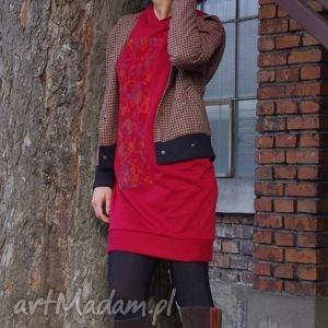 cherry-coke-dresowa sukienka, wygodna, dresowa, kaptur, kieszenie, ciepła