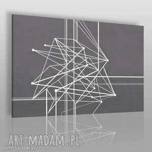 ręcznie zrobione obrazy obraz na płótnie - linie krzywe - 120x80 cm (47801)