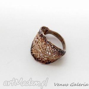 Pierścionek srebrny - Liściasty, bizuteria, srebro, pierścionki