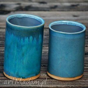 Pojemniki ceramiczne 2szt., pojemnik, organizer, ceramiczny, słój, pudełko