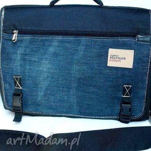 teczka na laptopa, torba, teczka, laptop, recykling, jeans, dokumenty torebki, pod