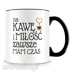 Prezent Kawa i miłość - kubek z nadrukiem, kubek, kawa, miłosć, kawy