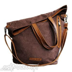 czechdraft na zamek worczak brązowy, zamsz, brązowa, czekoladowa, torebka torebki