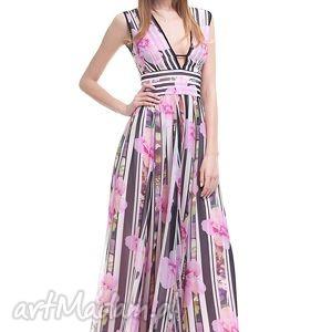 sukienki sukienka anbar, wesele, sukienka, długa, zamek ubrania