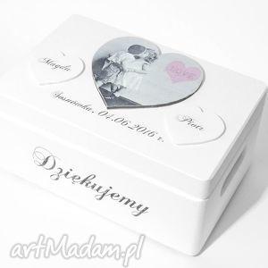 Ślubne pudełko na koperty Kopertówka Personalizowane Serce Love , pudełkonakoperty