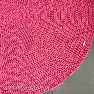 dywany dywan ze sznurka bawełnianego fuksja 130 cm, dywan, chodnik, sznurek, handmade