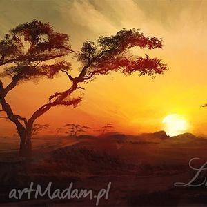 obrazy obraz - afryka 1 płótno malowany, pejzaż, krajobraz, obraz