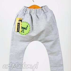 spodnie proste bawełniaka z 3 wymiennymi aplikacjami bawełniaków , oryginalność