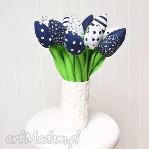 bawełniane tulipany, tulipan, bukiet, bawełniany, szyte, materiałowe