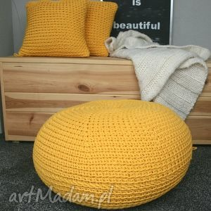 oryginalny prezent, w4design puf disc, puf, zółty, eco dom