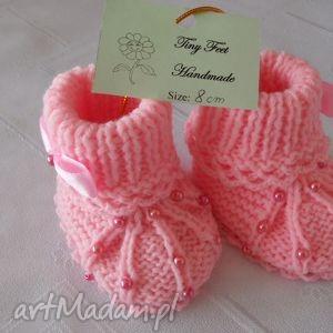 buciki niemowlęce z perełkami, buciki, kapciuszki, dziecięce