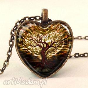 Prezent Drzewo miłości - Medalion z łańcuszkiem, drzewo, miłości, prezent, serce