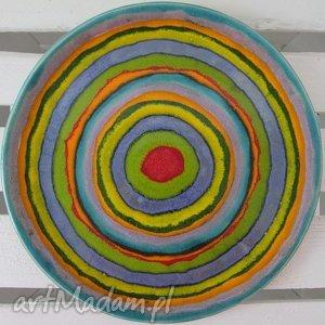 unikalny prezent, full color patera ceramiczna, ceramiczny, talerz, kolorowy