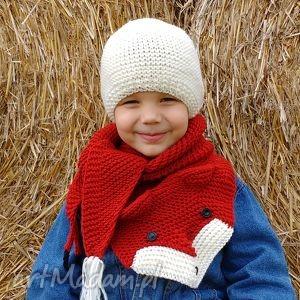 Lisi komplet, czapka, szalik, zima, ciepłe, wełniane, dziecko