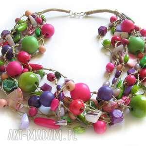 berry, drewno, naszyjnik, pleciony, naturalny, efektowny, świąteczny prezent
