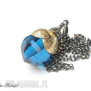 blue topaz, srebro, pozłacane, topaz biżuteria