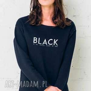 bluzy black is all colors oversize bluza, ubrania