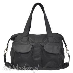 podróżne 09-0013 czarna torba sportowa torebka fitness tit, modne, markowe, torebki