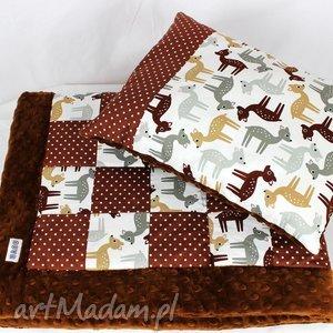 Kocyk Poduszka Patchwork - sarenki , kocyk, poduszka, patchwork, niemowlak, kołderka