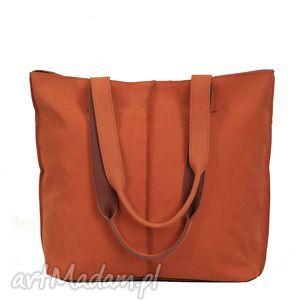 wygodna koralowa torba na ramię, torba, torebka, prezent, handmade, wygodna, duża