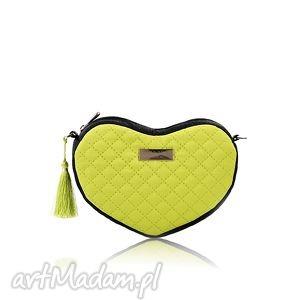 torebka lovka 113, pikowana, serce, mini, elegancka