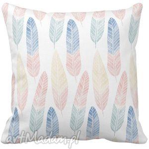 poduszki poduszka dekoracyjna boho pastelowe pióra 6536, boho, pióra, kolorowa dom