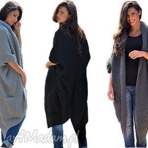 długi ciepły sweter-płaszcz, sweter, płaszcz, ciepły, długi, modny ubrania