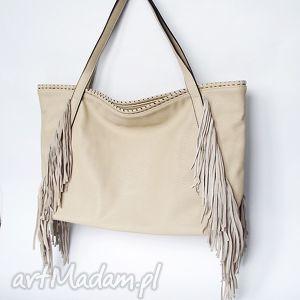 xl hobo beżowa, torba, worek na ramię torebki, unikalne prezenty
