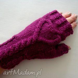 serduszka - serce, purpurowe, modne