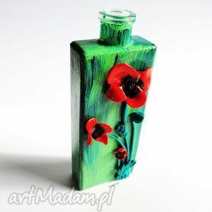 wyjątkowy prezent, wazony wazon w maki, wazon, mak, modelina, fimo, masa