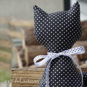 dekoracje maskotka kotek z bawełny , kot, handmade, dzieci dom