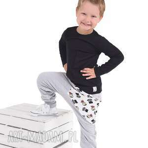 ubranka spodnie szare z kieszonką batmany , bawelna, spodnie, batmany, handmade