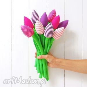 Prezent Bukiet bawełnianych tulipanów, tulipany, kwiaty, bukiet, kwiatki, prezent