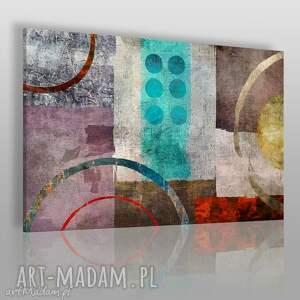 obraz na płótnie - abstrakcja mozaika 120x80 cm 37801 , abstrakcja, nowoczesny