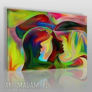 obraz na płótnie - twarze abstrakcja 120x80 cm 39201 , twarze, artystyczny