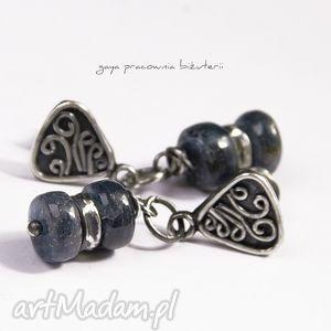 gaya pracownia kyanit w srebrze, kyanit, oponki, moneta, srebro, oksydowane, prezent